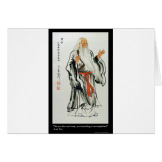 Lao Tzu Nature Never Hurries Quote Gifts & Tees Greeting Card