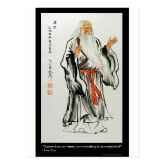 Lao Tzu Nature Never Hurries Quote Gifts & Tees Postcard