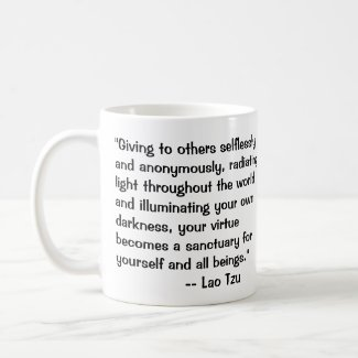 Lao Tzu on Darkness quote Coffee Mug
