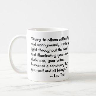 Lao Tzu on Darkness quote Coffee Mug