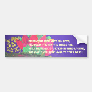 Lao Tzu Quote Bumper Sticker