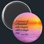 """Lao-Tzu quote inspirational magnet<br><div class=""""desc"""">Lao Tzu quotation magnet</div>"""