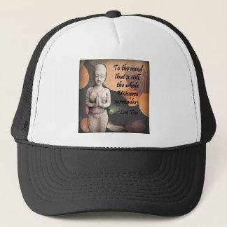 Lao Tzu Quote on Umbrella Thai Prayer Trucker Hat