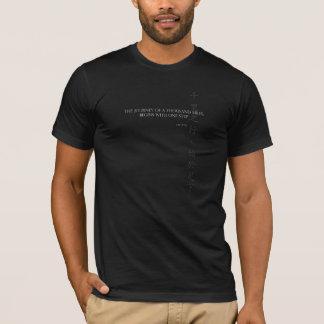 Lao Tzu Quote T-Shirt: Journey of 1000 Miles T-Shirt