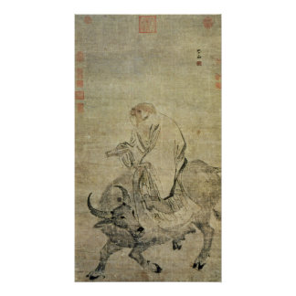 Lao-tzu  riding his ox, Chinese, Ming Dynasty Poster