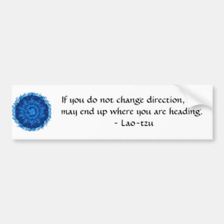 Lao tzu Spiritual Quote and Wize Saying Bumper Sticker