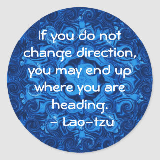 Lao tzu Spiritual Quote and Wize Saying Classic Round Sticker