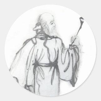 Lao Tzu Taoist Art Stickers