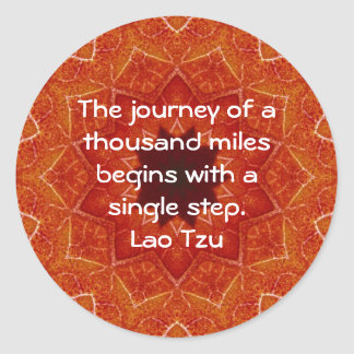 Lao Tzu Wisdom Motivational Quotation Saying Round Stickers
