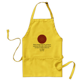 Lao Tzu Wisdom Quotation Saying Adult Apron