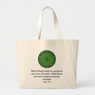 Lao Tzu Wisdom Quotation Saying Jumbo Tote Bag
