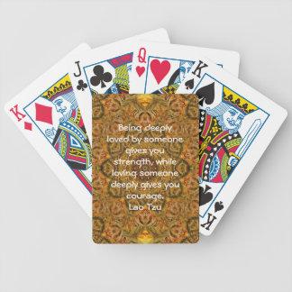 Lao Tzu Wisdom Quotation Saying Bicycle Playing Cards