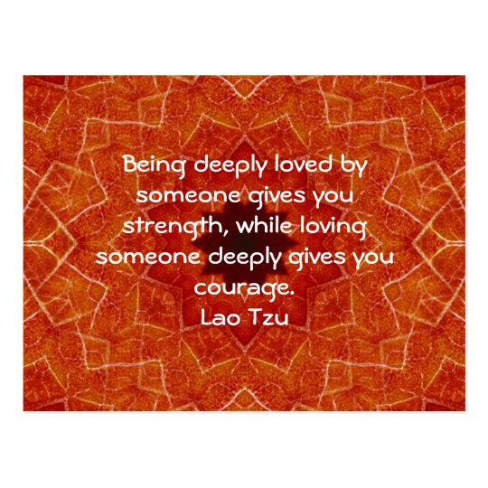 Lao Tzu Wisdom Quotation Saying Postcard