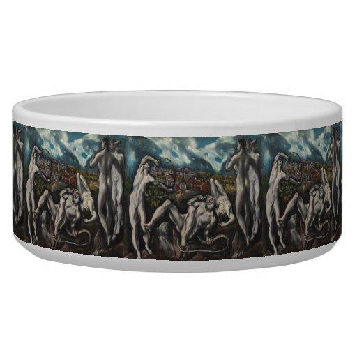 Laocoon by El Greco Pet Water Bowls