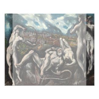 """Laocoon de El Greco Folleto 4.5"""" X 5.6"""""""