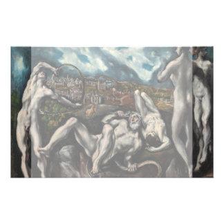 """Laocoon de El Greco Folleto 5.5"""" X 8.5"""""""
