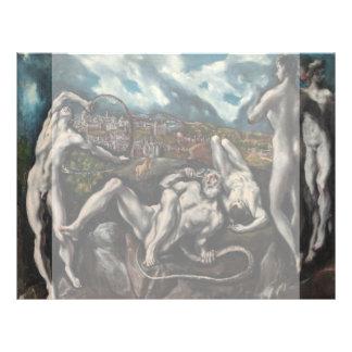 """Laocoon de El Greco Folleto 8.5"""" X 11"""""""