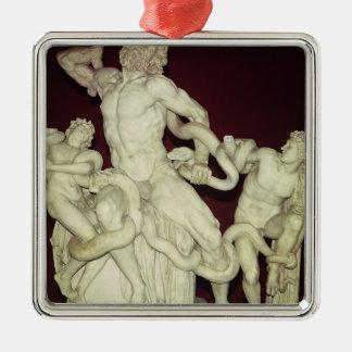 Laocoon, original helenística, siglo I Adorno Navideño Cuadrado De Metal