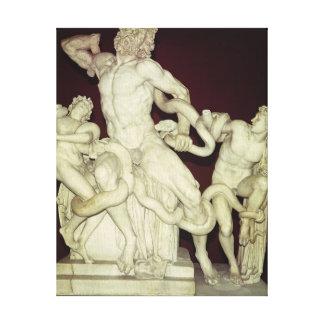 Laocoon, original helenística, siglo I Lona Envuelta Para Galerias