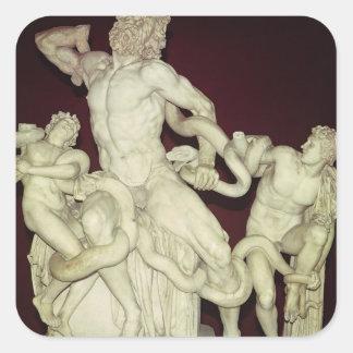 Laocoon, original helenística, siglo I Pegatina Cuadrada