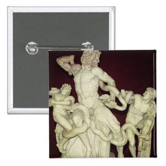 Laocoon, original helenística, siglo I Pin Cuadrada 5 Cm