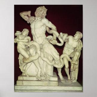 Laocoon, original helenística, siglo I Póster