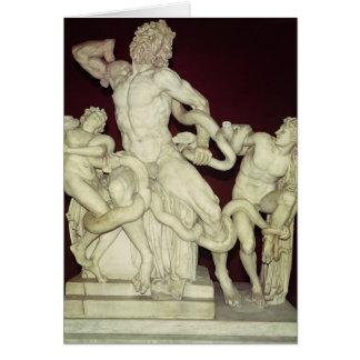 Laocoon, original helenística, siglo I Tarjeta De Felicitación