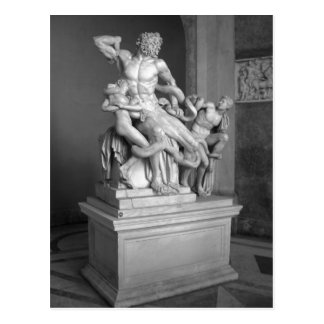 Laocoon Sculpture in the Vatican Museum, Rome. Pic Postcard