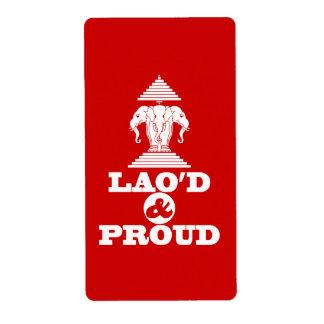 LAO'D & PROUD LABEL