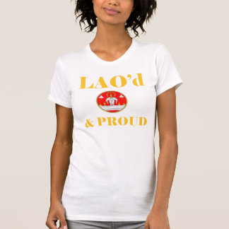LAO'd & PROUD Ladies Twofer Sheer (Fitted) Tshirts