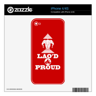 LAO'D & PROUD SKIN FOR THE iPhone 4S