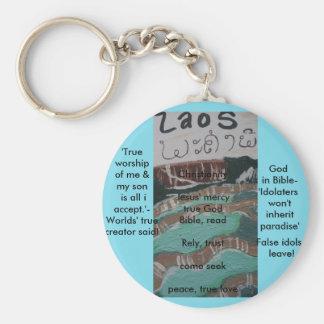 laos, be christian! keychain