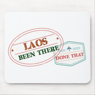 Laos Been There Done That Mouse Pad