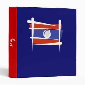 Laos Brush Flag 3 Ring Binder