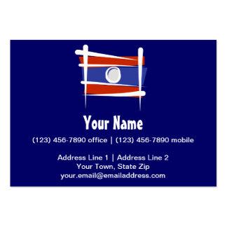 Laos Brush Flag Business Card