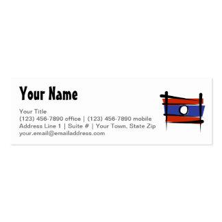 Laos Brush Flag Business Card Templates
