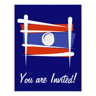 Laos Brush Flag Card
