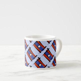 Laos Brush Flag Espresso Cup