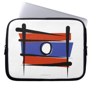 Laos Brush Flag Laptop Sleeves