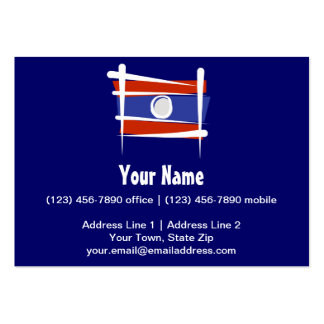 Laos Brush Flag Large Business Cards (Pack Of 100)