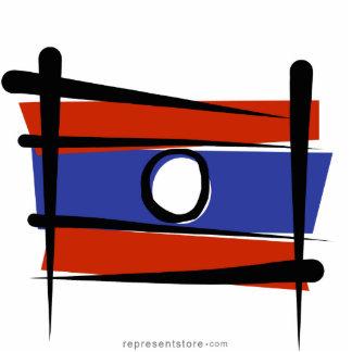 Laos Brush Flag Statuette