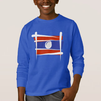 Laos Brush Flag T-Shirt