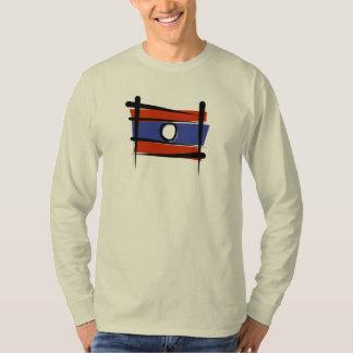 Laos Brush Flag Tee Shirt
