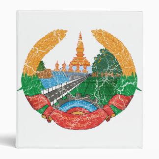 Laos Coat Of Arms 3 Ring Binder