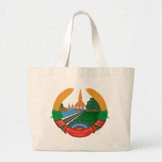 Laos coat of arms jumbo tote bag
