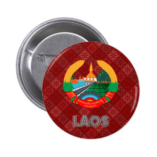 Laos Coat of Arms Pinback Button