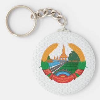 Laos Coat of Arms detail Keychain