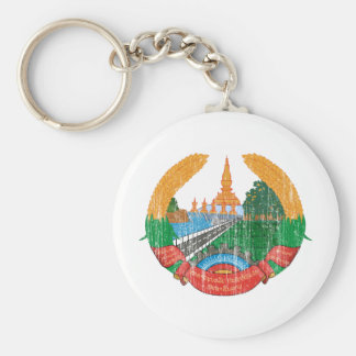 Laos Coat Of Arms Keychain