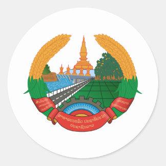 Laos Coat Of Arms Round Sticker
