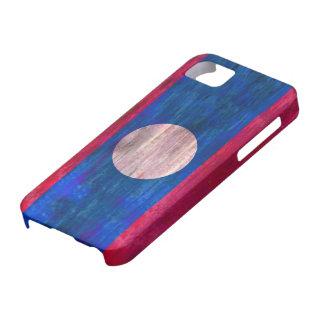 Laos distressed flag iPhone SE/5/5s case